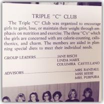"""Triple """"C"""" Club, Nutley High School, 1966"""