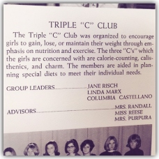 "Triple ""C"" Club, Nutley High School, 1966"