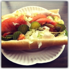 turkey sub with oil, vinegar, and hot peppers from Rocky's