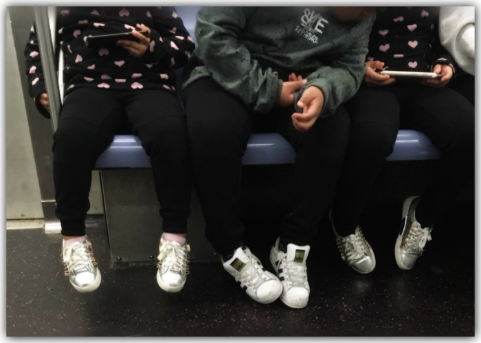 kids on subway